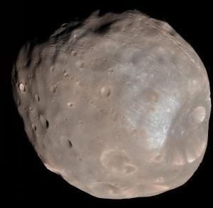 Uno de los satélites de Marte