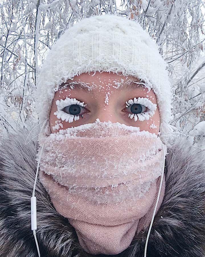 Frío en Oymyakon